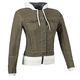 Womens Brown Fast Times Denim Hoody Jacket