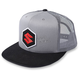 Gray/Black Suzuki Mark  Snapback Hat - 18-86400