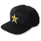 Black Rockstar Star Snapback Hat - 18-86602