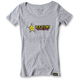 Women's Gray Rockstar Split T-Shirt