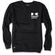 Black Kawasaki Racing Crew Sweatshirt