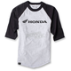 Gray/Black Honda Baseball T-Shirt