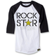 White/Black Rockstar Duplex Baseball T-Shirt