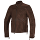 Tobacco Brown Brera Leather Jacket