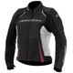 Women's Black/White/Pink Stella Devon Airflow Leather Jacket