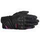 Women's Black/Pink Stella Baika Leather Glove