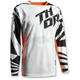 Youth White/Orange Fuse Air Jersey