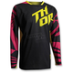 Youth Magenta/Yellow/Black Fuse Air Jersey
