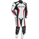 White/Black/Red Latigo 2.0 Leather Race-Ready One-Piece Suit