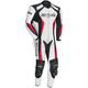 White/Black/Red Latigo 2.0 Leather Race-Ready One-Piece Suit
