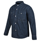 Blue Gridlock Denim Moto Shirt