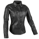 Women's Leather Black Heart Moto Shirt