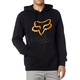 Black/Orange Legacy Fox Head Hoody