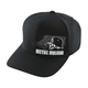 Black Switch Curved Hat
