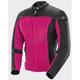 Women's Pink/Black Velocity Textile Mesh Jacket