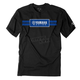 Black Yamaha Racing Stripes T-Shirt