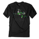 Youth Black/Green Moto Kids T-Shirt