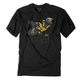 Youth Black/Yellow Moto Kids T-Shirt