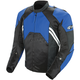 Blue/Black Radar Leather Jacket