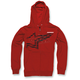 Red Plume Zip Hoody
