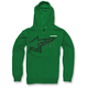 Kelly Green Plume Zip Hoody