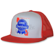 Red Blue Ribbon Snapback Hat - HM5PBRR