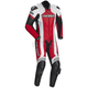 Red/White Adrenaline RR Leather One-Piece Suit
