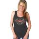 Women's Charcoal Sturgis Pistons Tank