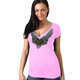Women's Pink Sturgis Silver Flight T-Shirt