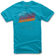Turquoise Hashed T-Shirt