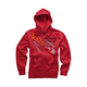 Red Precise Zip Hoody