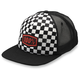 Youth Black/White Checkers Trucker Hat - 20048-001-00