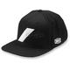 Black Wool Slash Snapback Hat - 20049-001-01