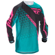 Teal/Pink/Black Kinetic Mesh Trifecta Jersey