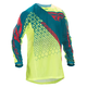 Hi-Vis Yellow/Teal Kinetic Mesh Trifecta Jersey