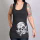 Women's Heather Charcoal Butterfly Sugar Skull Tank Top