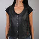 Women's Black Lambskin Vest w/Side Lace