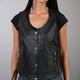 Women's Black Lambskin Vest w/Side Lace