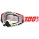 White/Red Racecraft Flush Goggle w/Clear Lens - 50100-109-02