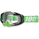 Green/White Racecraft Organic Goggle w/Clear Lens - 50100-116-02