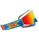 Cyan/White/Fluorescent Orange X-Fade Volanco Goggles - 067-10205