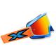 Cyan/Black/Fluorescent Orange X-Fade Phantom Goggles - 067-10245