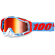Bobora Light Blue Racecraft Goggle w/Red Lens - 50110-154-02