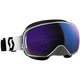 White LCG Snowcross Goggles w/Blue Chrome Lens - 240526-0002300