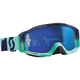 Oxide Turquoise/Blue Tyrant Goggles w/Blue Chrome Lens - 240585-4973278
