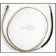 Polished Stainless Designer Series Custom 72 in. Hydraulic Clutch Line w/90 Degree Top Angle - 51672