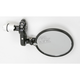 Black Skull Folding Round Bar End Mirror - 00-00206-22
