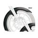 21 in. Chrome Slicer Tire Hugger Series Front Fender with Chrome Blocks - 1402-0306