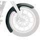 21 in. Chrome Wrapper Tire Hugger Series Front Fender with Chrome Blocks - 1402-0307