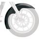 21 in. Chrome Level Tire Hugger Series Front Fender with Chrome Blocks - 1402-0308